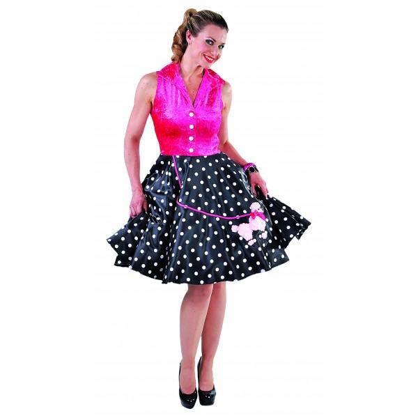 location d guisement robe ann e 60s rose paris chez be happy. Black Bedroom Furniture Sets. Home Design Ideas