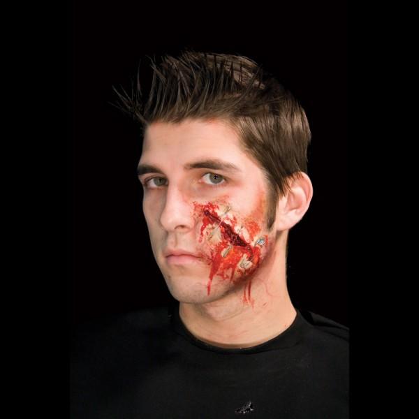 Maquillage effet sp ciaux halloween cicatrice ferm e par pingles en vente - Maquillage halloween cicatrice ...