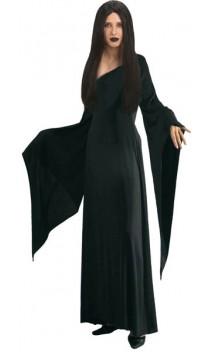 d guisement morticia famille addams robe morticia noir pour adulte. Black Bedroom Furniture Sets. Home Design Ideas