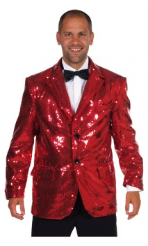 Veste Paillettes Disco Rouge