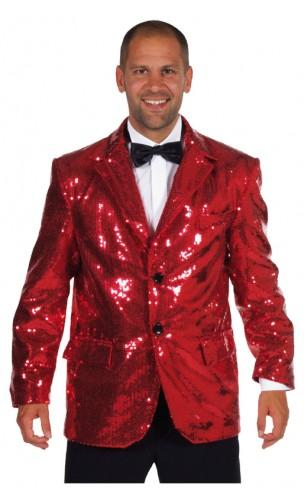 Veste Paillettes Disco Rouge