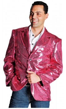 Veste Paillettes Disco Rose