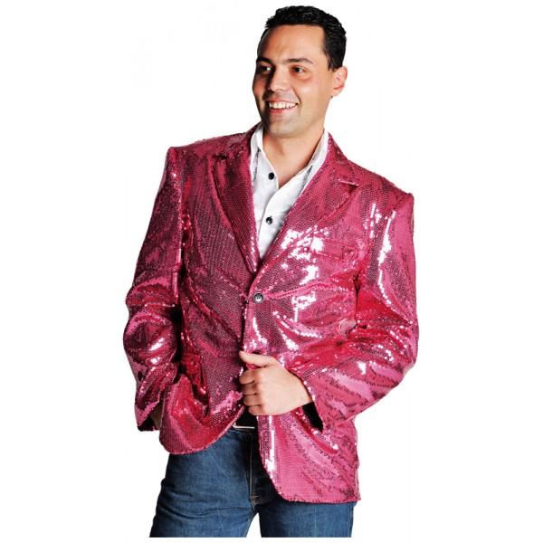 Location d guisement veste paillettes disco rose ann e 80 paris - Veste annee 80 ...