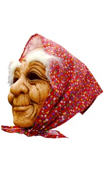 Masque Vieille avec foulard