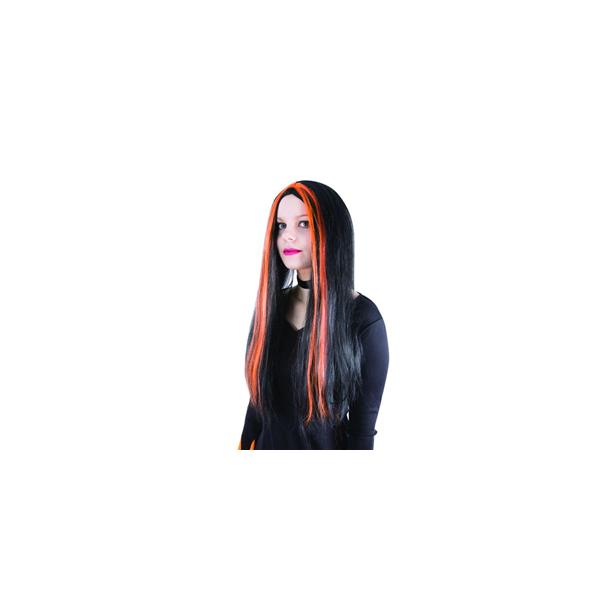 Perruque Sorcière Noir Rouge