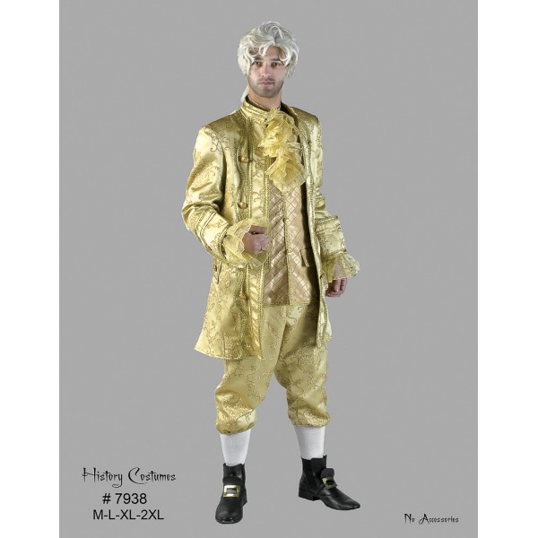 Costume marquis louis 16 dorée Luxe