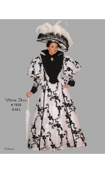 Robe victorienne à fleurs luxe