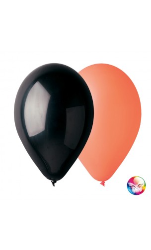 50 Ballons Orange et Noir