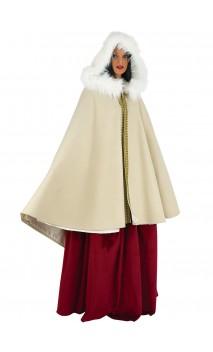 Cape princesse luxe en velours beige