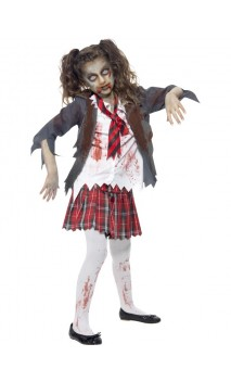 Déguisement Ecolière Zombie Enfant