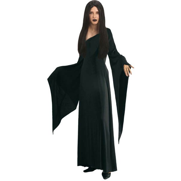 d guisement morticia famille addams robe morticia noir pour adulte. Black Bedroom Furniture Sets. Home Design Ideas