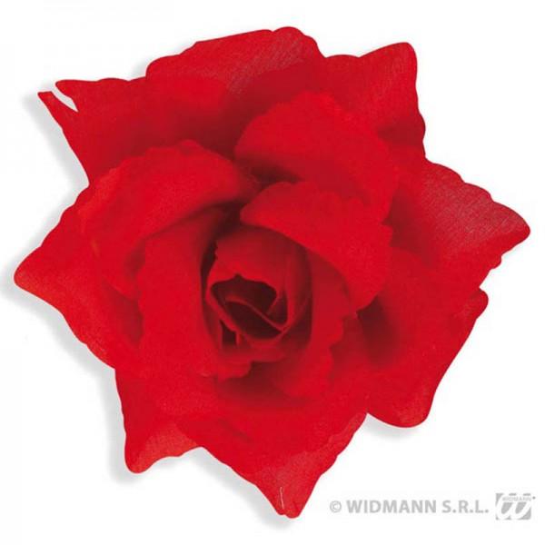 Broche Fleur Rouge Espagnol 10cm