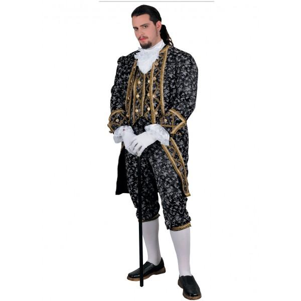 Costume marquis Angelo noir luxe en location
