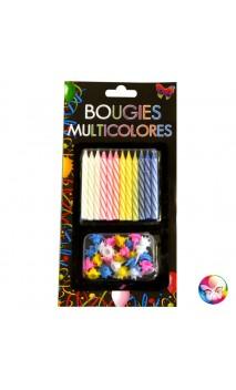 24 Bougie d'Anniversaire Multicolore