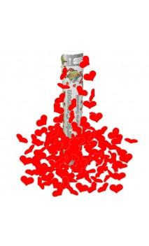 Canon à confettis Coeur rouge