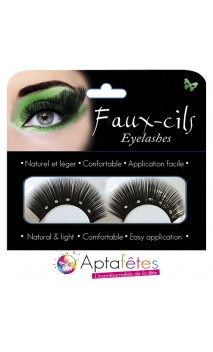Faux Cils Strass Noirs