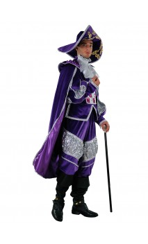 Costume marquis Vénitien bleu luxe