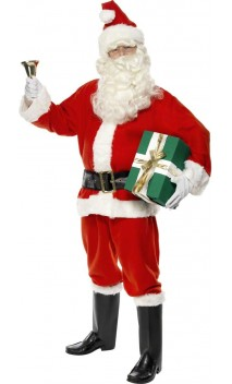 Costume Père-Noël américain Luxe