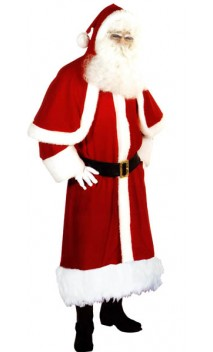 Costume Père-Noël Européen Luxe