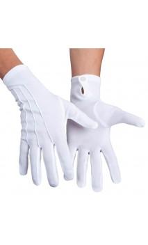 Gants Blanc Tissus Luxe