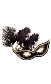 Masque Loup Cancan Noir