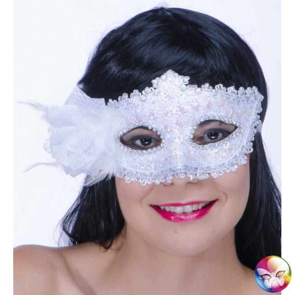 Masque Loup Baroque Blanc
