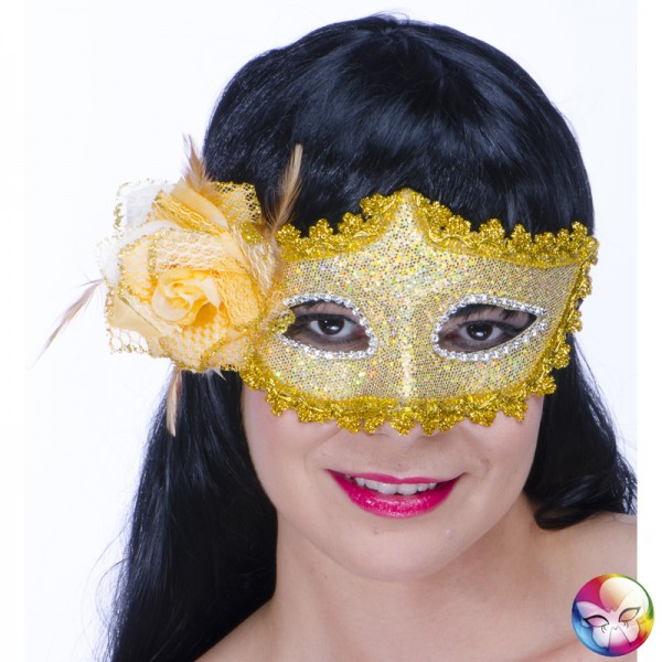 Masque Loup Baroque Doré