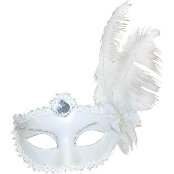 Masque loup Marquise blanc