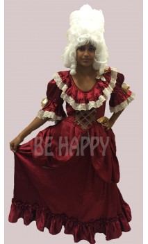 Robe marquise baroque rouge