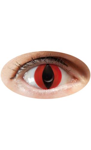 Lentilles oeil de chat rouge