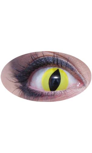 Lentilles oeil de chat jaune