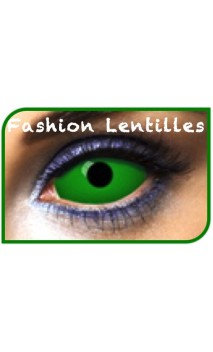 Lentilles Sclera Vert