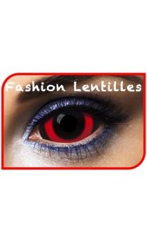 Lentilles Sclera Rouge et noir