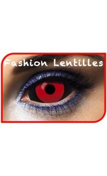 Lentilles Sclera Noir et rouge