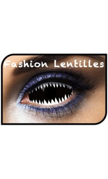 Lentilles Sclera Dents Requin