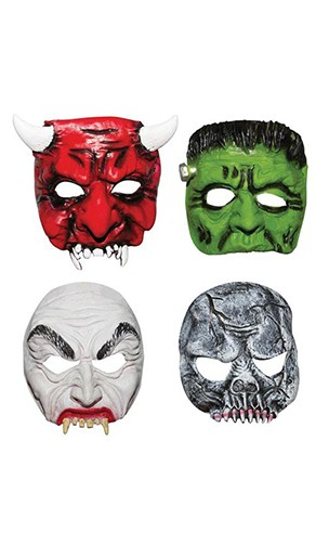 Masque demi visage monstre