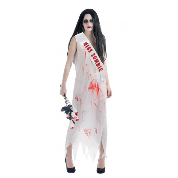 Costume miss halloween zombie
