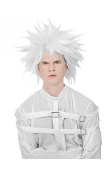 Perruque de fou blanche