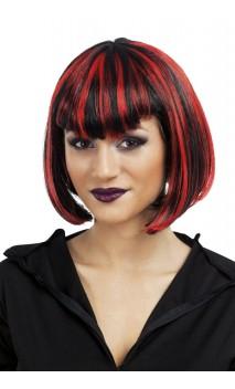 Perruque Vampiresse Rouge Noire