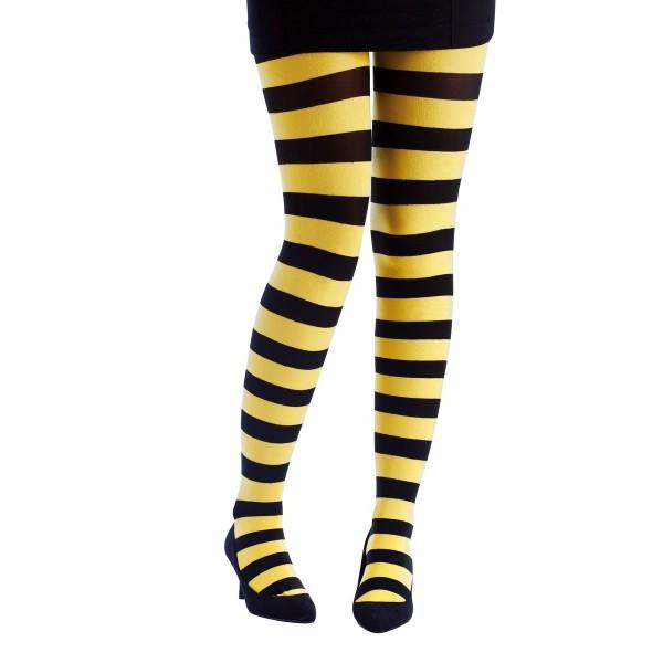 Collant rayé noir et jaune
