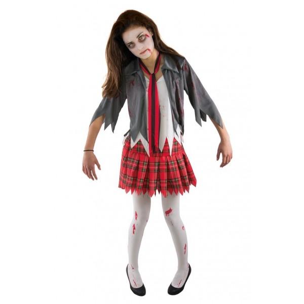 Costume étudiante ado zombie
