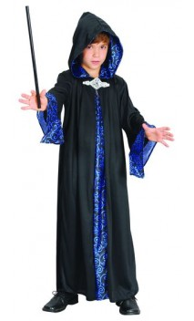Costume sorcier noir et bleu enfant