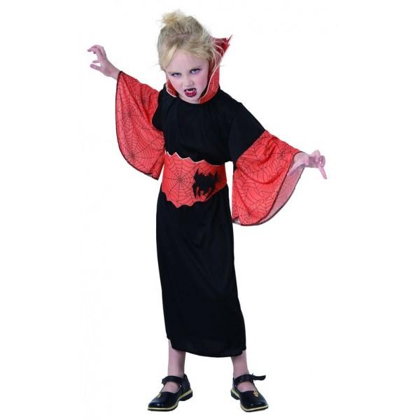 Costume spiderella orange enfant