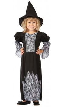 Costume sorcière grise luxe baby