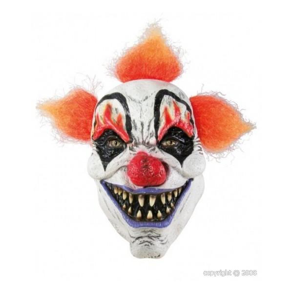 Masque clown maléfique avec cheveux