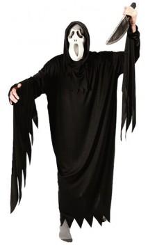 Déguisement fantome noir adulte