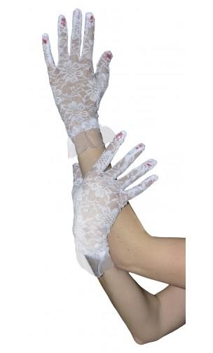 Gants dentelles blanc court