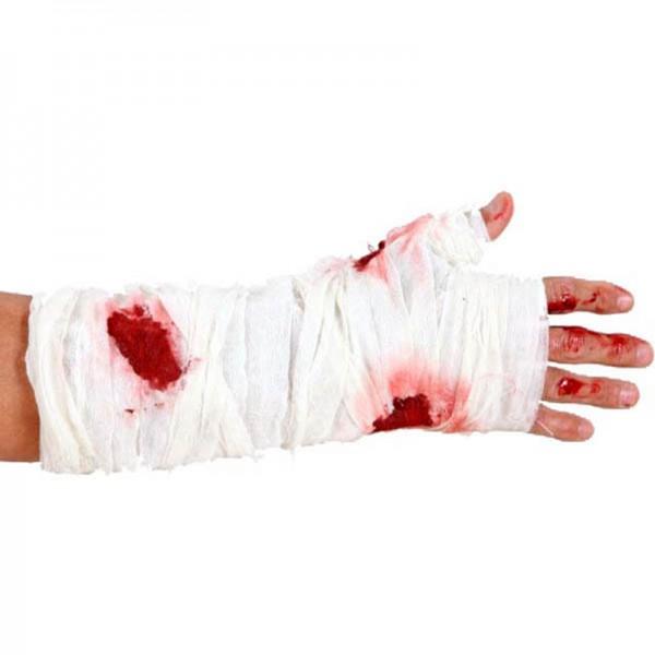 Bandage bras sanglant