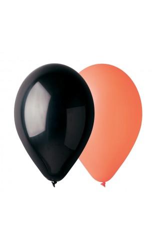 10 ballons orange et noir