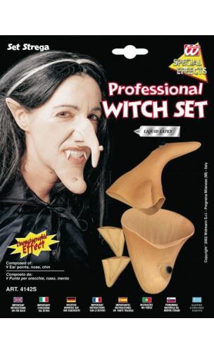 Set sorcière nez et menton